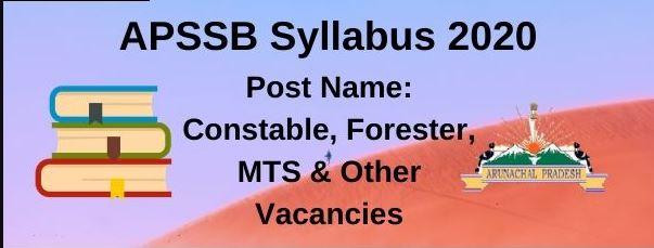 APSSB Constable Syllabus 2020 PDF | Head Constable, Forester Exam Pattern