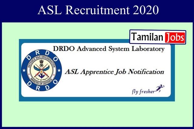 ASL Recruitment 2020