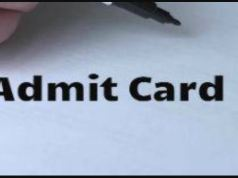 Arunachal Pradesh Civil Service Admit Card 2020