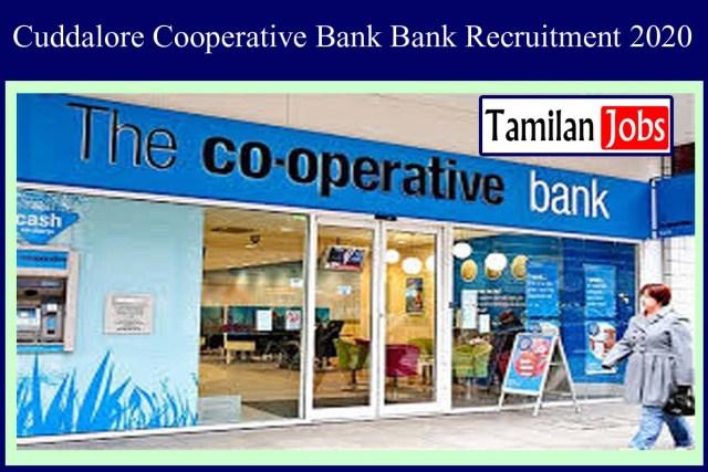 Cuddalore Cooperative Bank Recruitment 2020