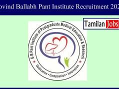 Govind Ballabh Pant Institute Recruitment 2020