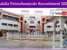 Haldia Petrochemicals Recruitment 2020