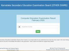 KSEEB Computer Education Result 2020