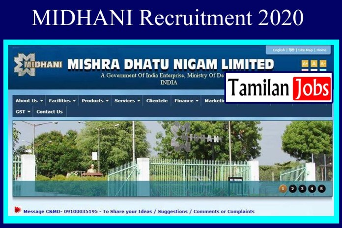 MIDHANI Recruitment 2020 Out – Apply 70 Mechanical Jobs
