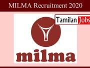 MILMA Recruitment 2020