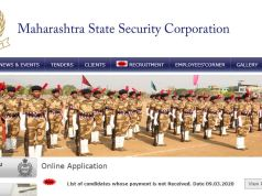 MSSC Security Guard Result 2020