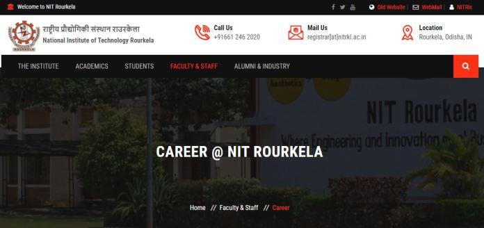 NIT Rourkela Non Teaching Admit Card 2020