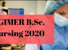 PGIMER B.Sc Nursing Syllabus 2020 PDF