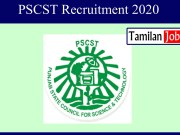 PSCST Recruitment 2020