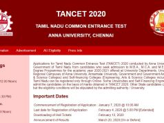 TANCET Answer Key 2020 PDF