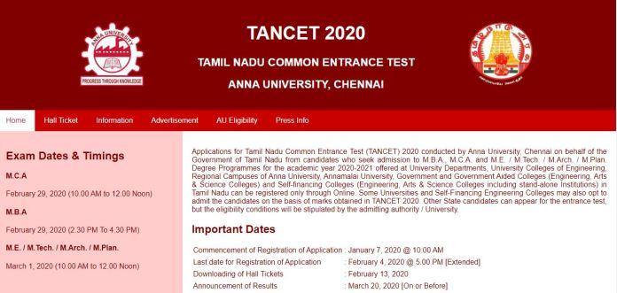 TANCET Answer Key 2020 PDF