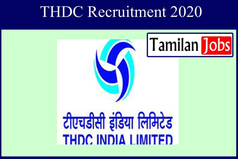 THDC Recruitment 2020 Out – Apply 10 Trade Apprentice Jobs