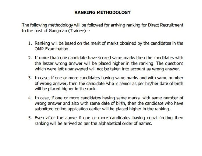 TNEB Gangman Ranking Methodology Announced | Download @ tangedco.gov.in