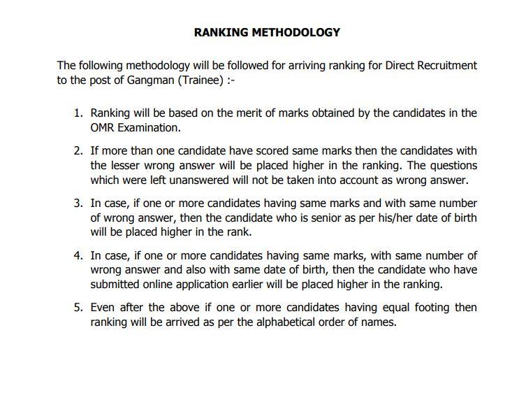 TNEB Gangman Ranking Methodology Announced | Download @ tangedco.gov.in