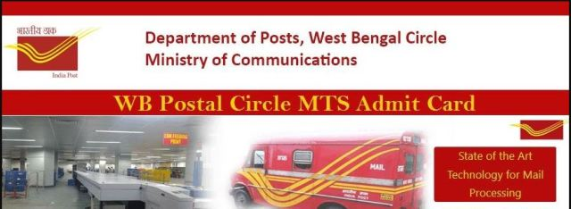 WB Postal Circle MTS Admit Card 2020