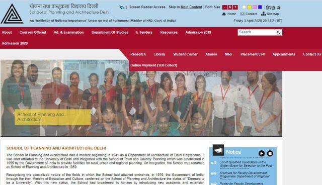 SPA Delhi Non Teaching Admit Card 2020