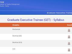 NLC GET Syllabus 2020