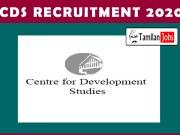 CDS Recruitment 2020