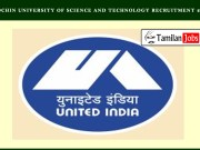 Cochin University of Science and Technology Recruitment 2020