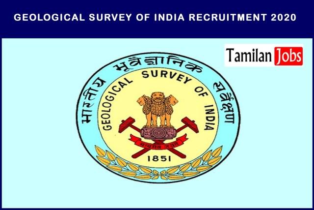 Geological Survey of India Recruitment 2020