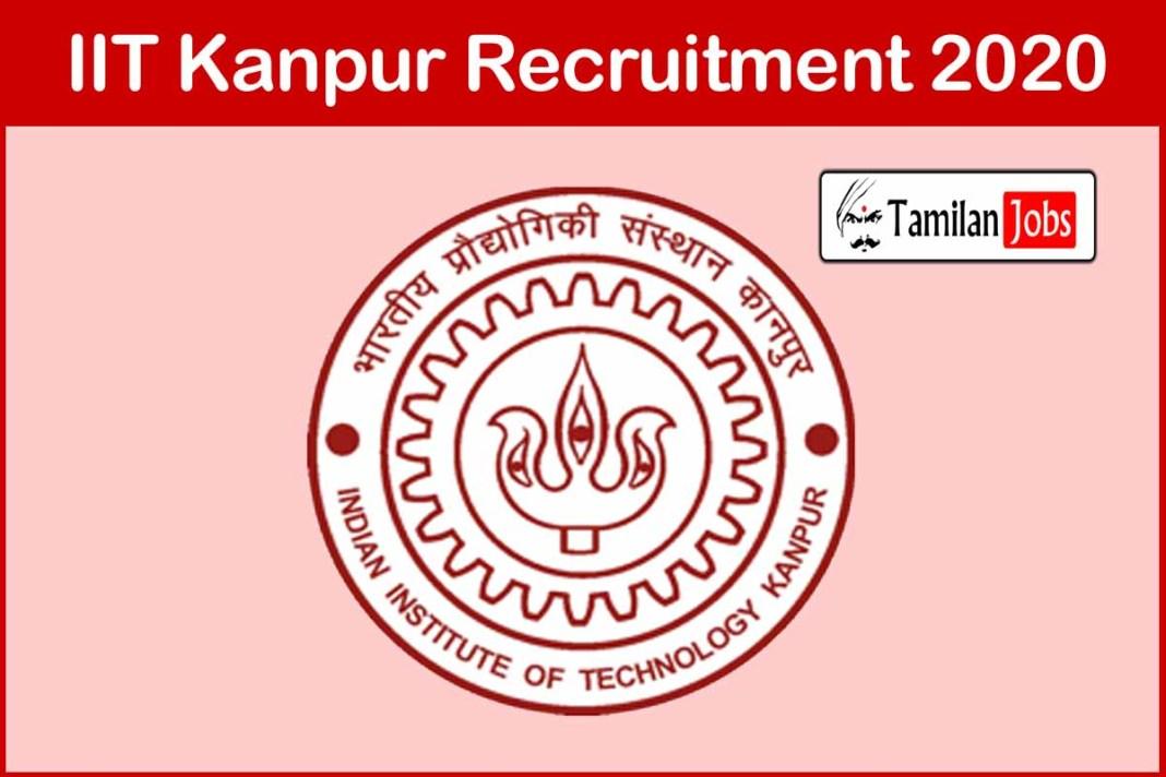 IIT Kanpur Recruitment 2020
