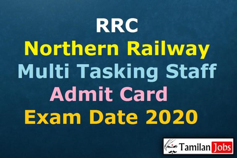 Northern Railway MTS Admit Card 2020 Release Soon | RRC NR MTS Exam Date @ rrcnr.org