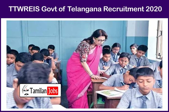 TTWREIS Recruitment 2020