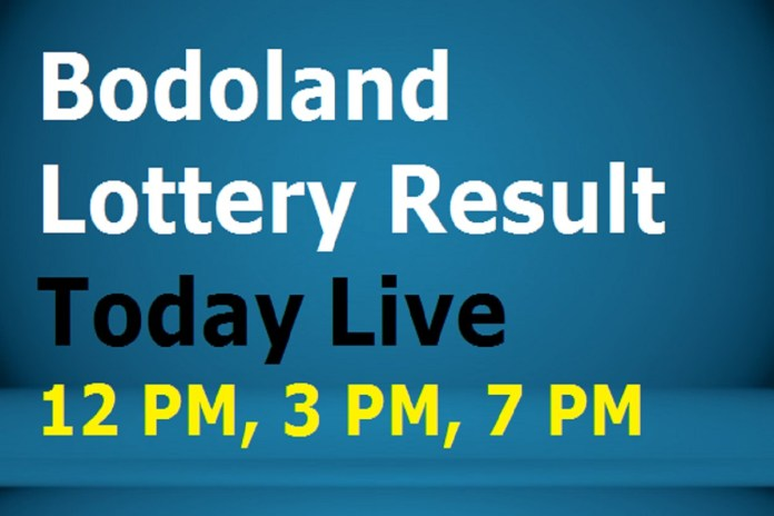 Bodoland Lottery Result Today 29.7.2020