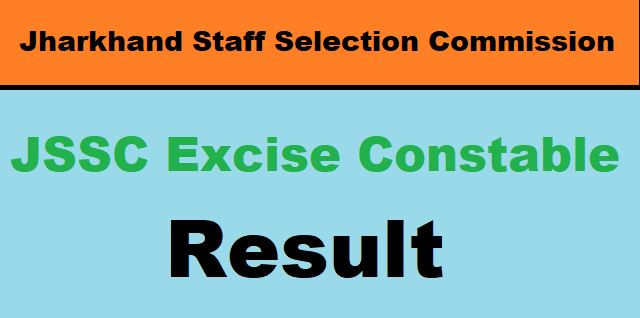 JSSC Excise Constable Result 2020