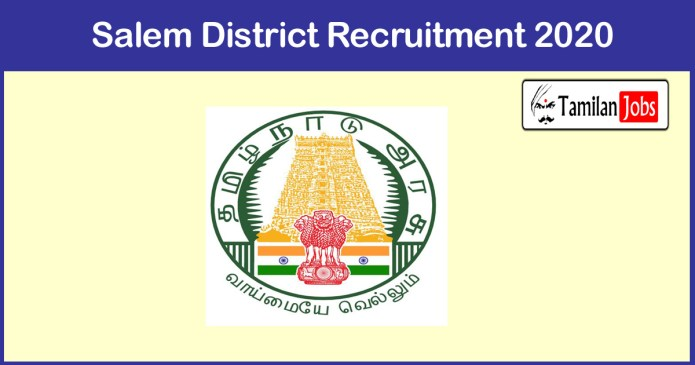 Salem District Recruitment 2020 Out – Apply Sanitary Worker Jobs