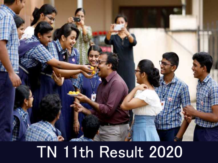 TN 11th Result 2020 Declared Today @ www.tnresults.nic.in {Live}