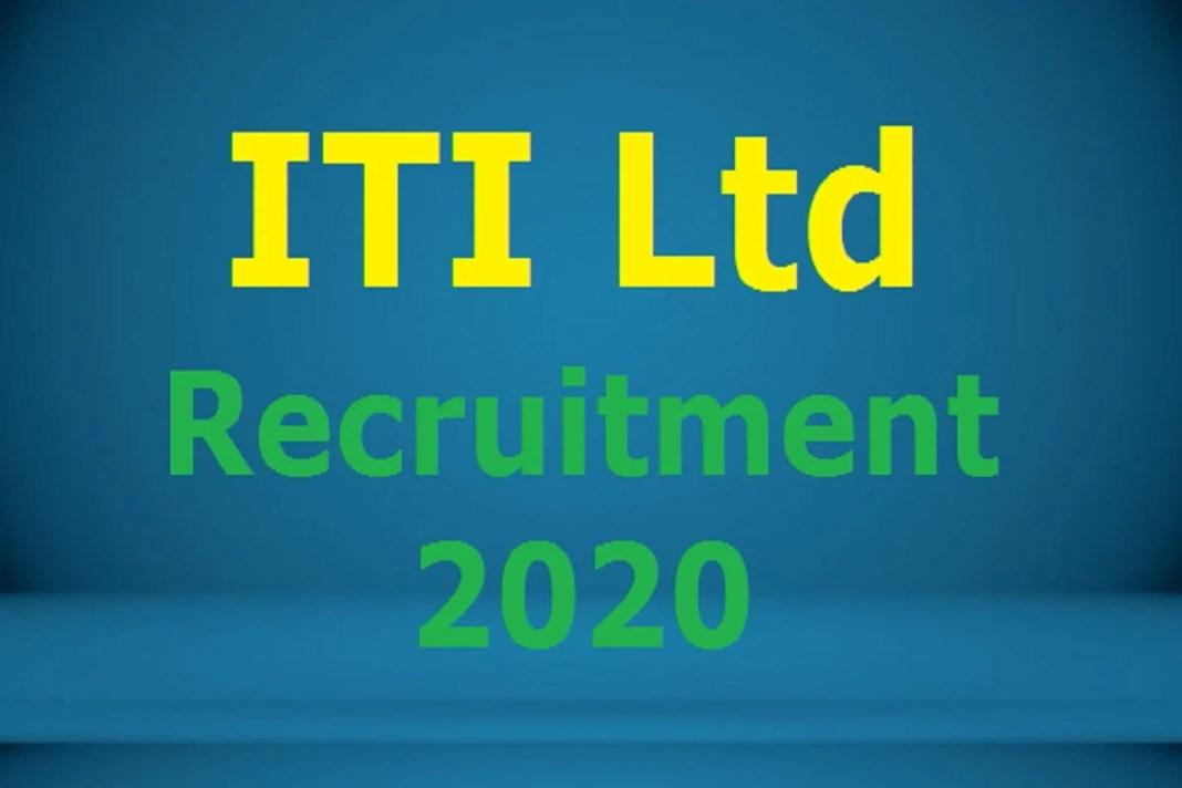 ITI Ltd Recruitment 2020