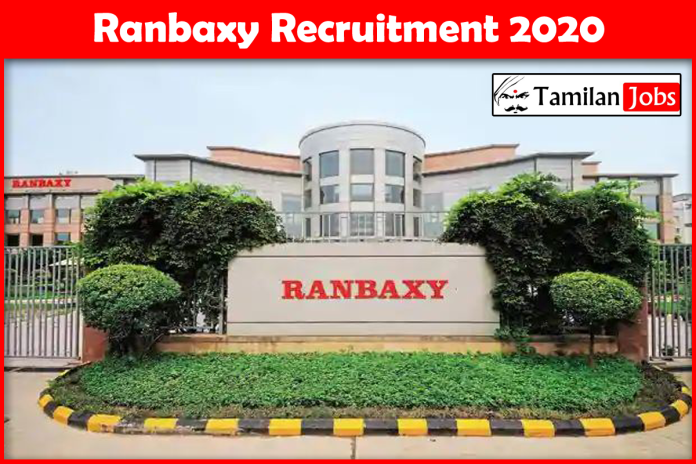 Ranbaxy Recruitment 2020 – Apply Online 1000+ Fresher Job Openings