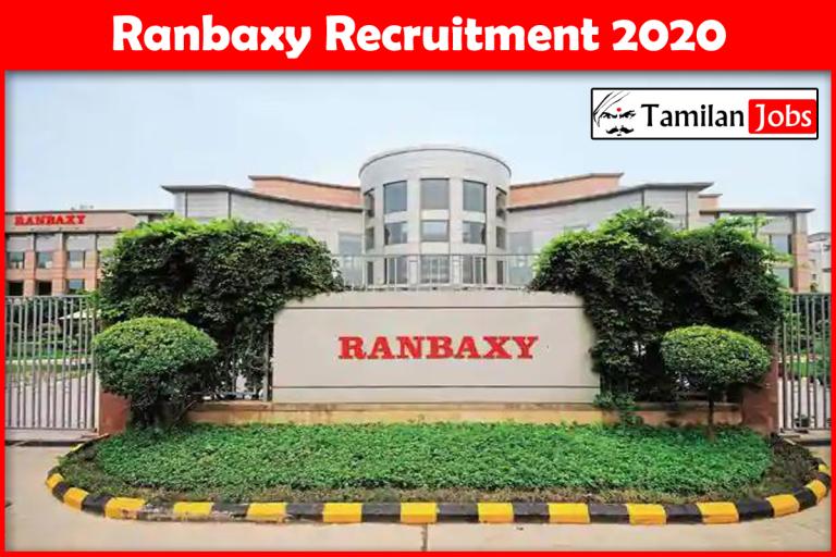 Ranbaxy Recruitment 2020 – Apply Online 1000+ Fresher Job Openings