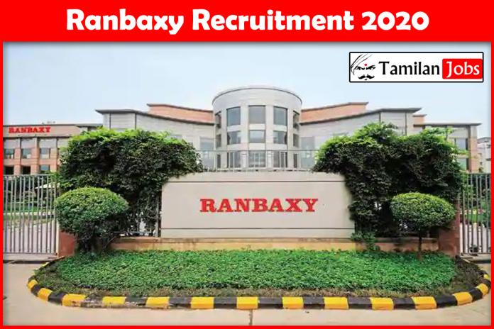 Ranbaxy Recruitment 2020