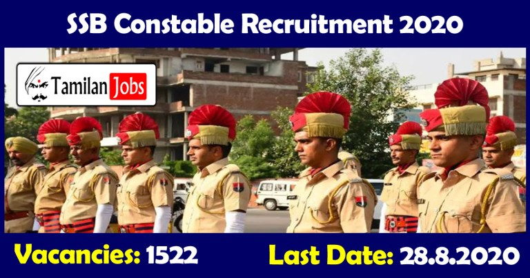 SSB Constable Recruitment 2020 Out – Apply Online 1522 Jobs