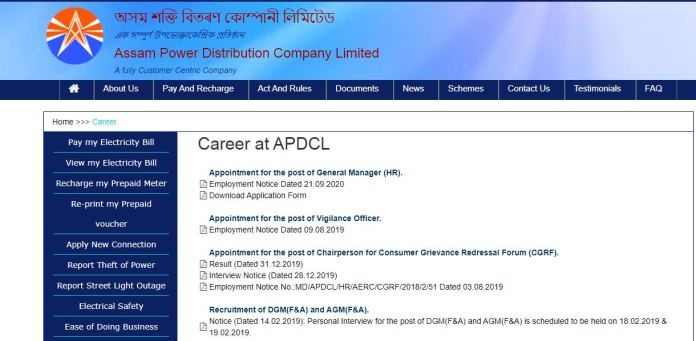 APDCL Light Vehicle Driver, Sahayak Result 2020 | Download Selection List @ www.apdcl.org