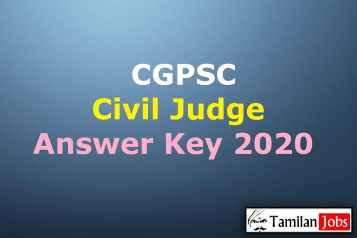 CGPSC Civil Judge Answer Key 2020 PDF | Chhattisgarh CJ Mains Exam Key