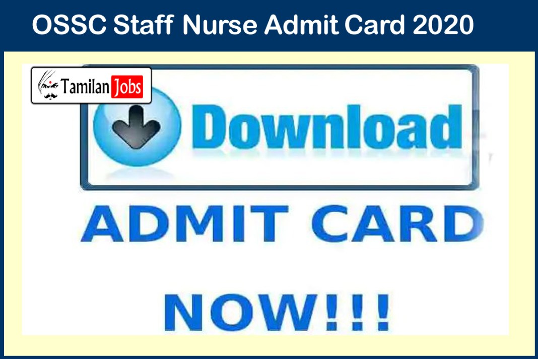 OSSC Staff Nurse Admit Card 2020