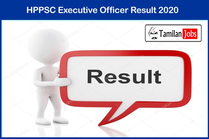HPPSC Executive Officer Result 2021 (Out) | Cut Off, Merit List at hppsc.hp.gov.in