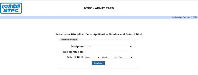 NTPC Engineer Admit Card 2020 (Out) @ ntpc.co.in | Assistant Chemist Exam Date
