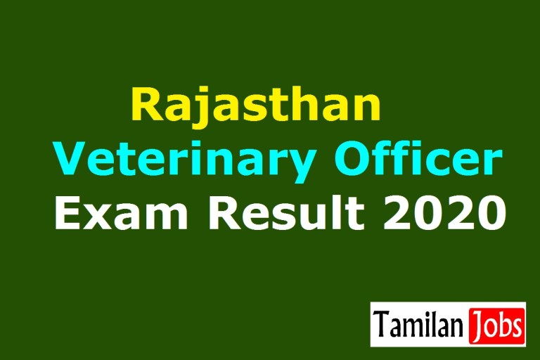RPSC Veterinary Officer Result 2020 (Release Soon) | VO Selection List