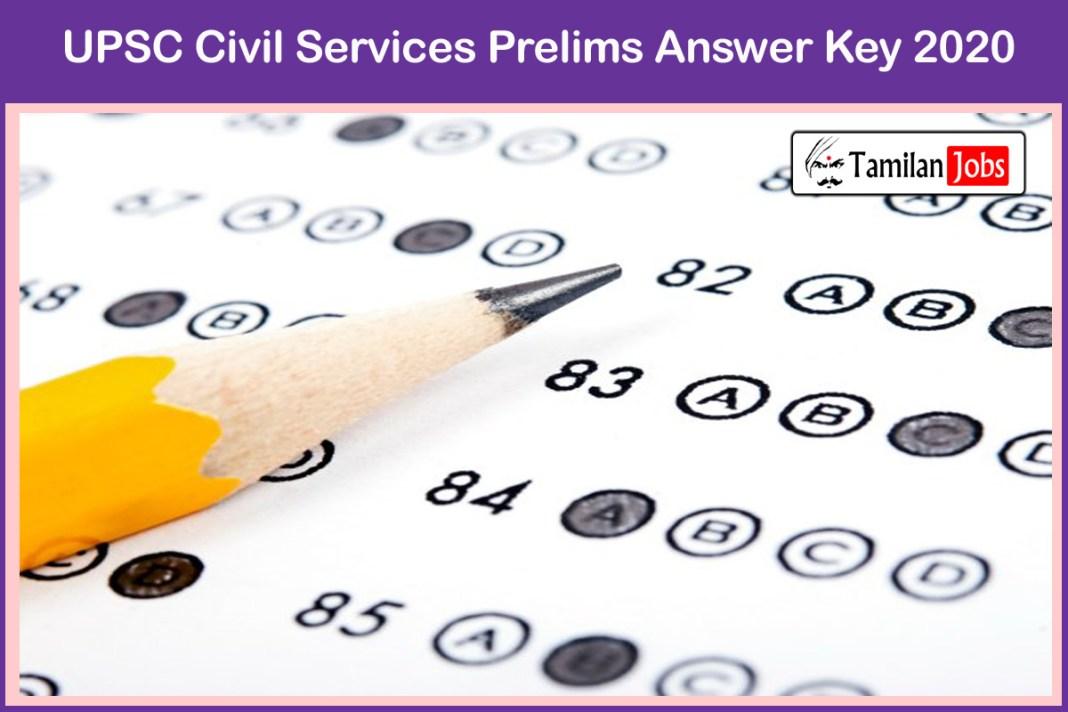 UPSC Civil Services Prelims Answer Key 2020