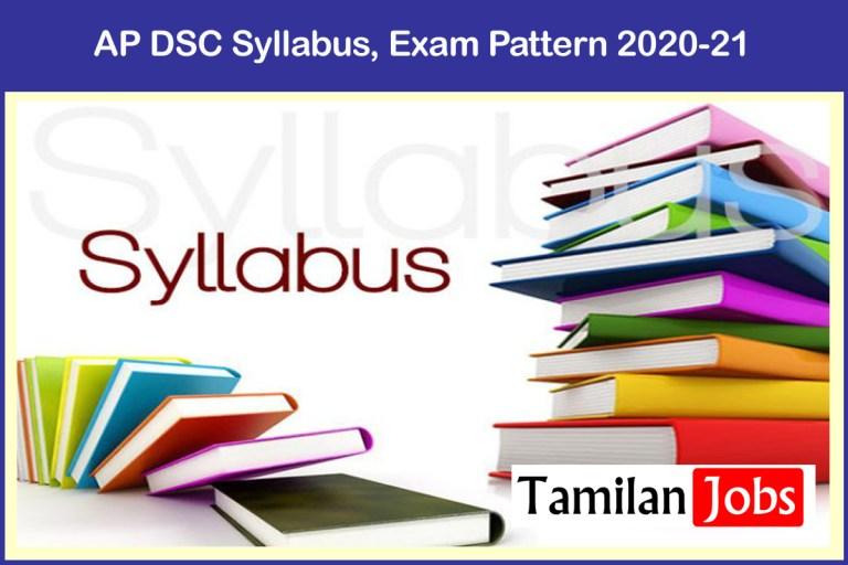 AP DSC Syllabus, Exam Pattern 2020-21 @ aptet.apcfss.in