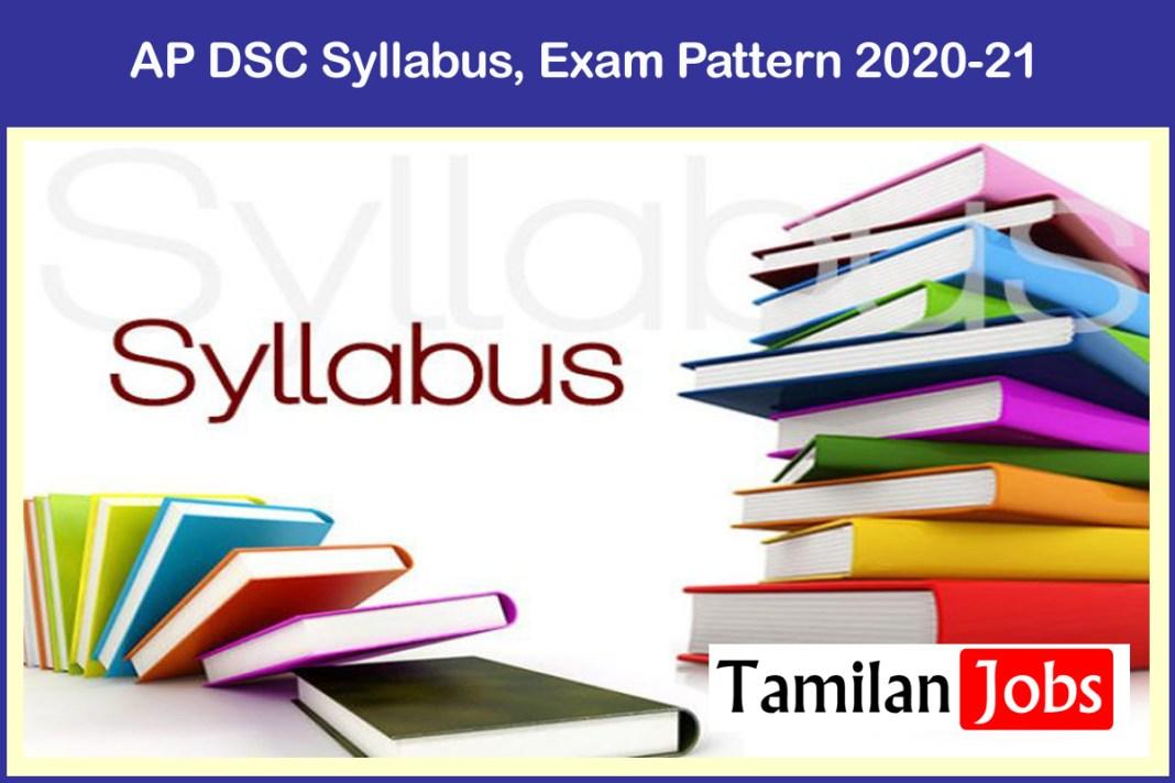 AP DSC Syllabus, Exam Pattern 2020-21