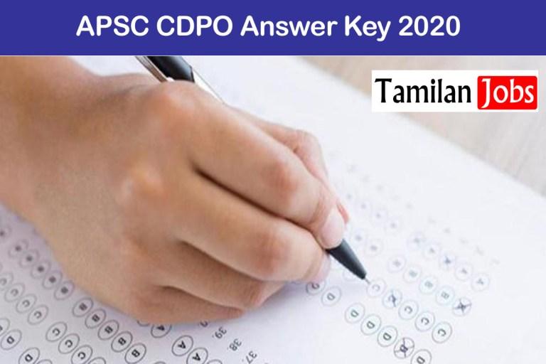 APSC CDPO Answer Key 2020 PDF Release Soon @ apsc.nic.in