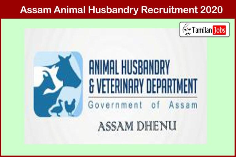 Assam Animal Husbandry Recruitment 2020 Out – Apply 221 Veterinary Field Assistant Jobs