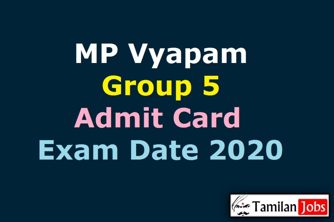 MP Vyapam Group 5 Admit Card 2020