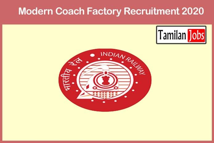 Modern Coach Factory Recruitment 2020