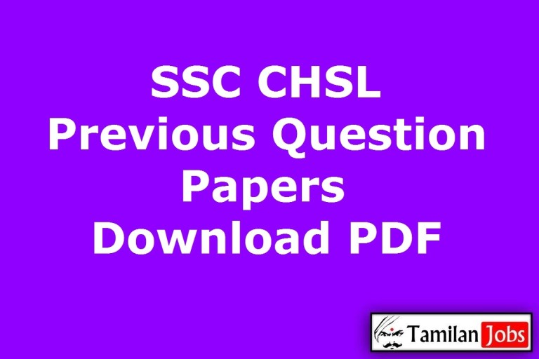 SSC CHSL Previous Question Papers PDF, Answer key in Hindi, English